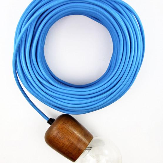 Синий текстильный провод 5 метров