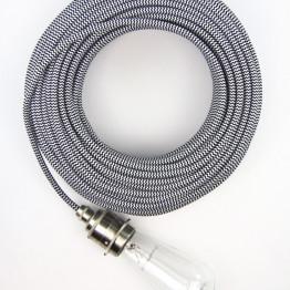 Черно-белый текстильный провод 5 метров