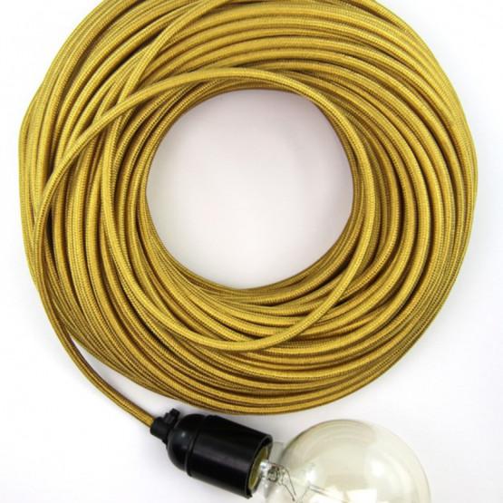 Золотой текстильный провод 5 метров