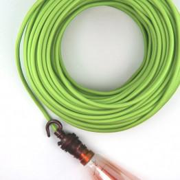 Зеленый текстильный провод 5 метров