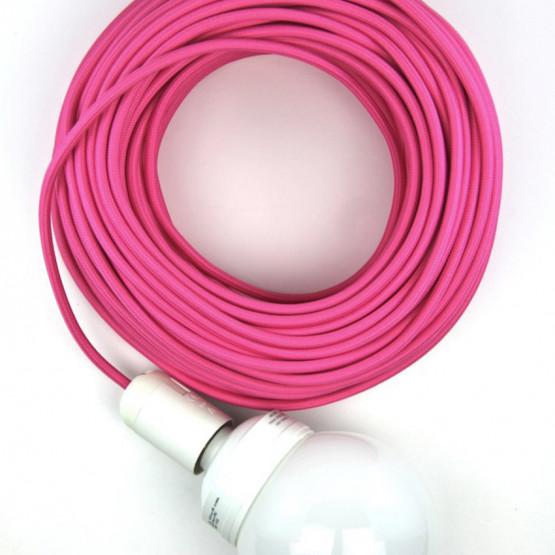 Розовый текстильный провод 5 метров