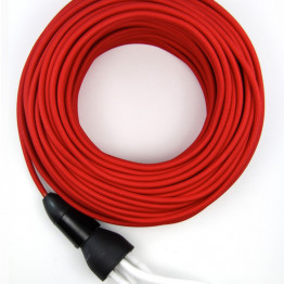 Красный текстильный провод 5 метров