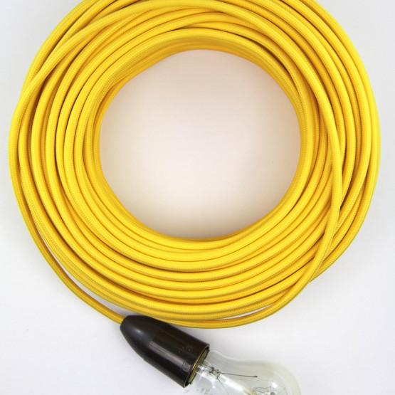 Желтый текстильный провод 5 метров